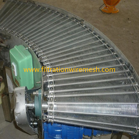 Turn Curve Wire Mesh Belt Conveyor