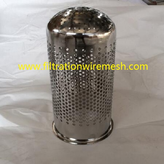 Stainless Steel Perforated Mesh Support Filter Basket