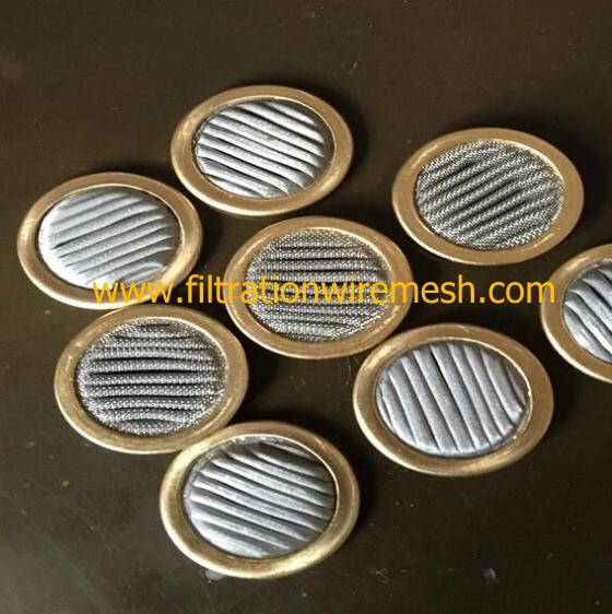 Brass Rim Disk Mesh Filter For Servo Valve