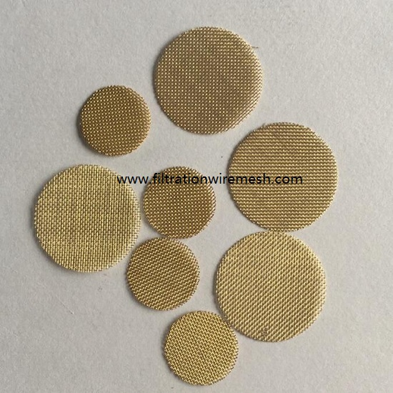 Brass Wire Mesh Disc Filter