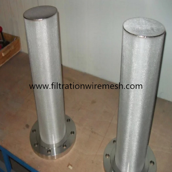 Flange sintered mesh filter element stainless steel for Stainless steel elements
